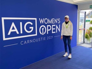 Annabell Fuller played amazing the AIG Women's Open