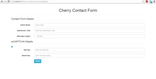contact form install