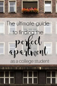 Ultimate guide to choosing a college apartment