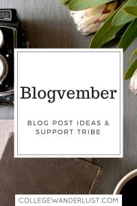 Blogvember – blog post ideas & support tribe