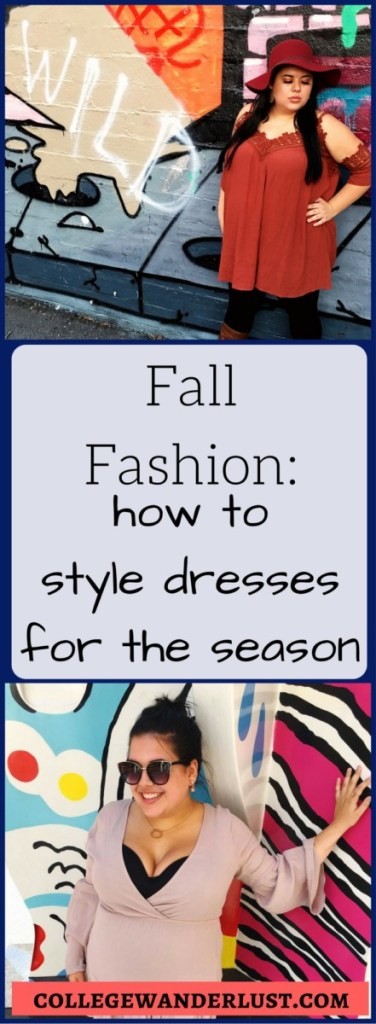 fall fashion - how to style dresses for the season
