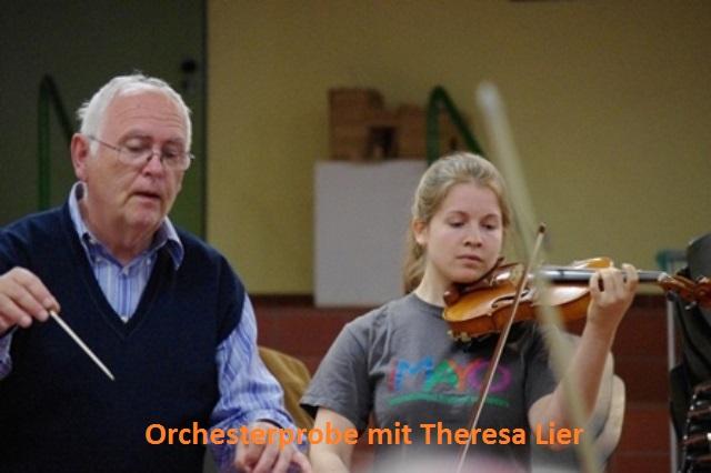 Orchesterprobe mit Theresa Lier