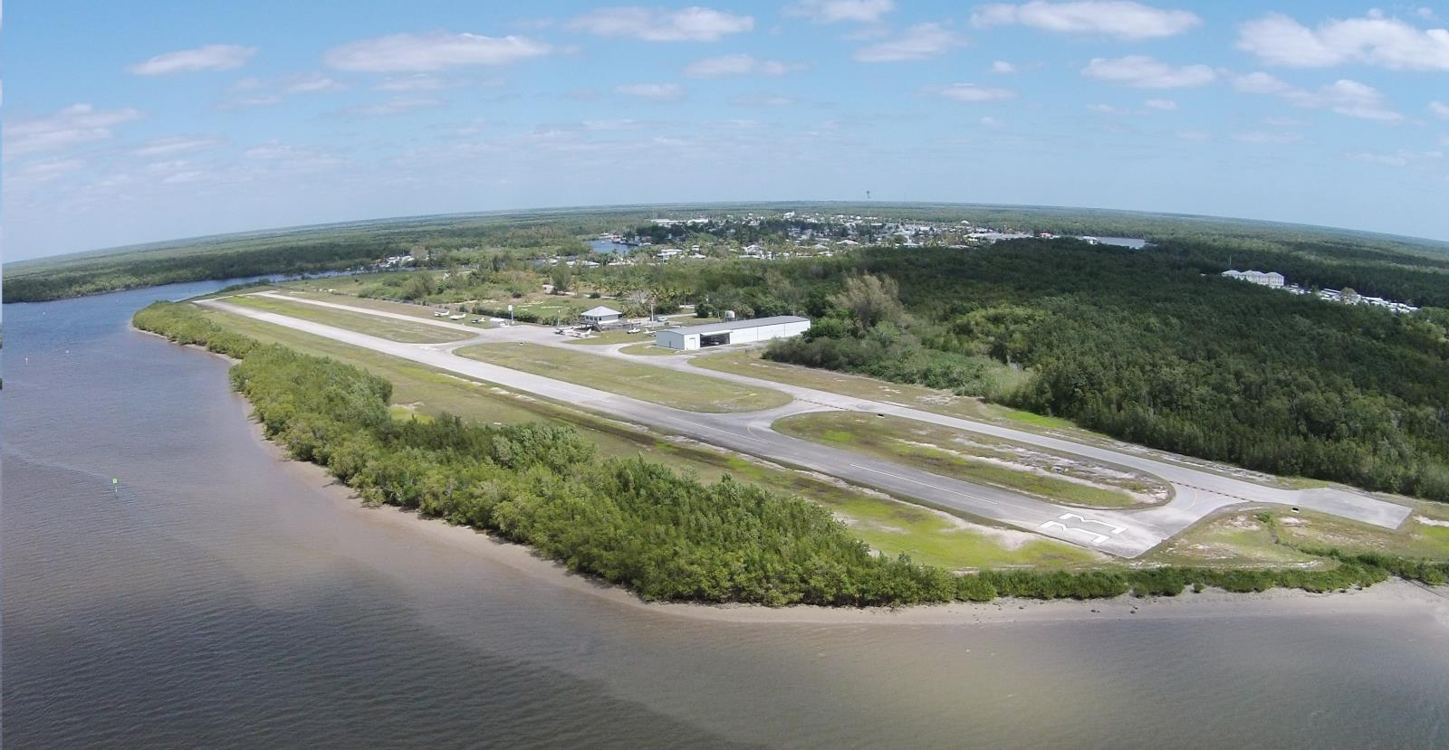 hight resolution of aerial view of everglades airport runways