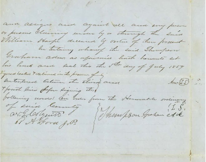 1859_07_05_Deed to RMC re 100 acres William Harp Estate_Page_2