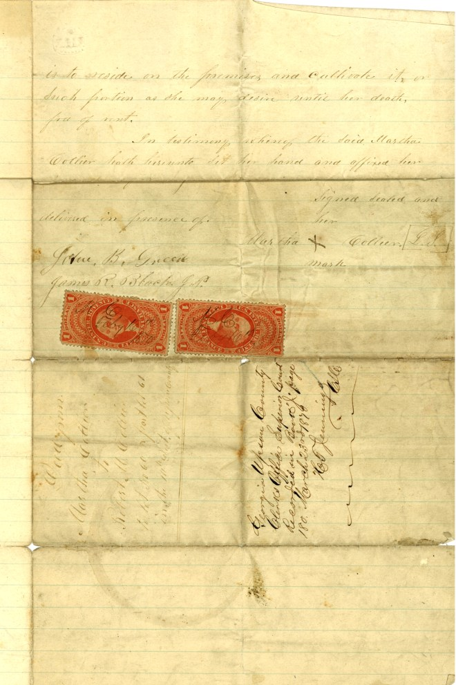 deed Martha Marshall collier to RMC page 2red