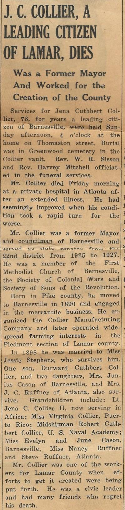 JC Collier obit 1