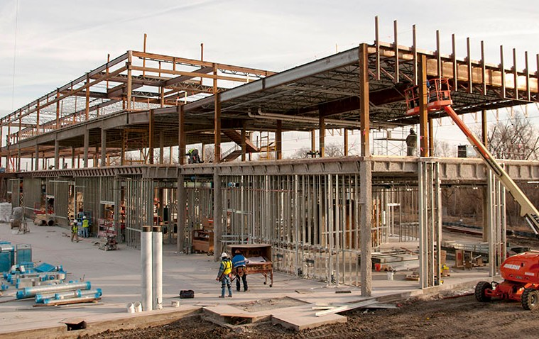 Health Sciences Building under construction at Collin College