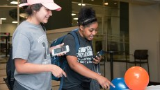 """Central Park Campus students pick out just the right flavor at the """"Ice Cream Social"""" event, June 27."""