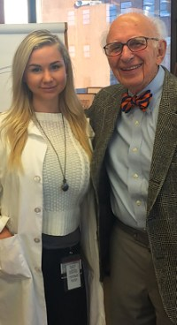 Johanna Qvist with Dr. Eric Kandel