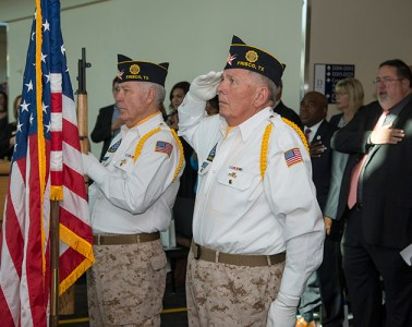 The official opening of the Veterans Resource Center at Spring Creek Campus in October.