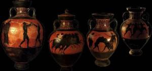 Le quattro anfore paratenaiche dell'atleta di Taranto