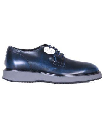 Hogan-lacci-liscia-pelle-blu-1