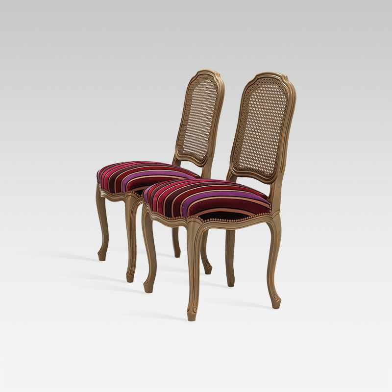 louis xv chair lane desk leather cane back for hotel restaurant bar collinet 1