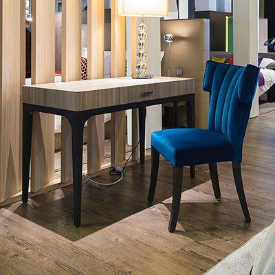 high chair restaurant purple upholstered desk: end hotel furniture | collinet
