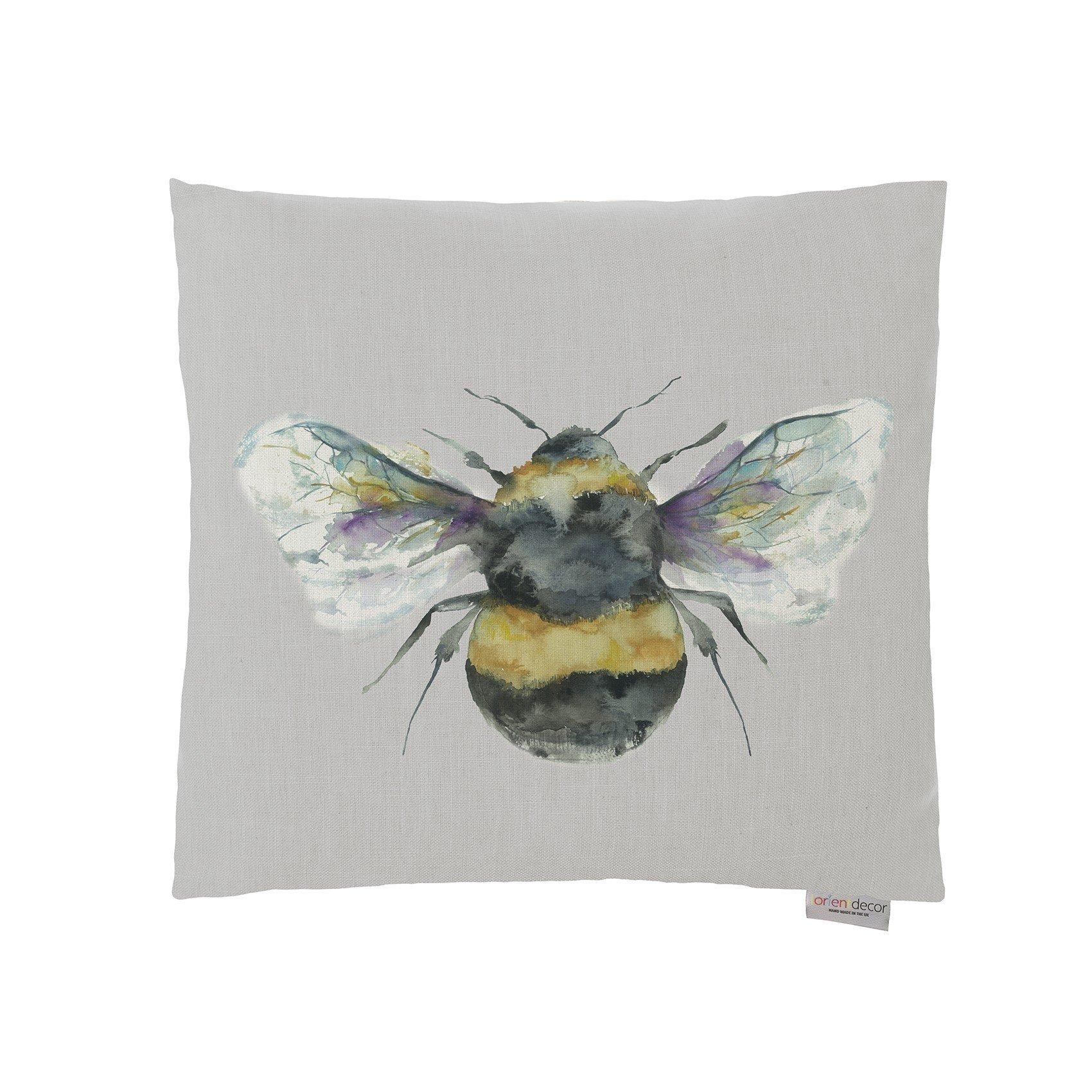lorient design bee silver cushion 43x43