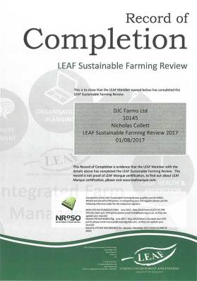 LEAF Farming Review Cert 2017