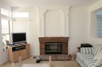 refacing a brick fireplace family room traditional with ...