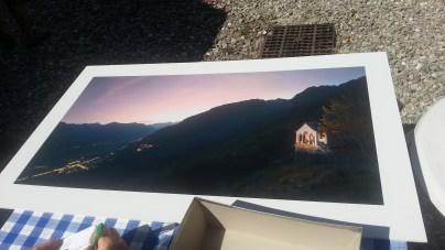 Poster dell'Alpe Lut al tramonto