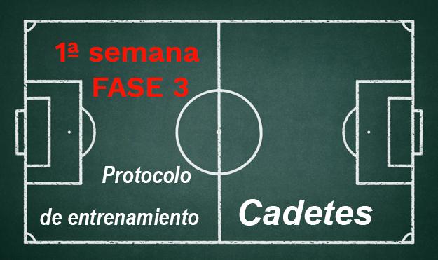 Semana 1 FASE 3 Protocolo de entrenamiento  en fases de desescalada para la categoría de Cadetes