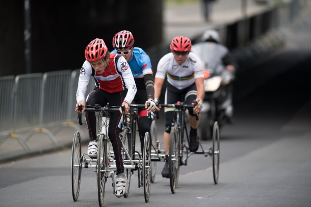 LONGERICH, GERMANY - MAY 15: Tricycler Road Races at the City Center during day-2 of the Cologne Classic on May 15, 2016 in Longerich, Germany (Photo © 2016 Oliver Kremer | https://www.pixolli.com)