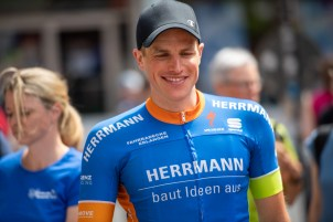 LONGERICH, GERMANY - JUNE 09: Tim Kleinwaechter of GER looking into the camera at the Race Track - Longericher Hauptstrasse during the Cologne Classic 2019 - Road Races - Strassenrennen on June 09, 2019 in Longerich, Germany (Photo © 2019 Oliver Kremer | https://sports.pixolli.com)