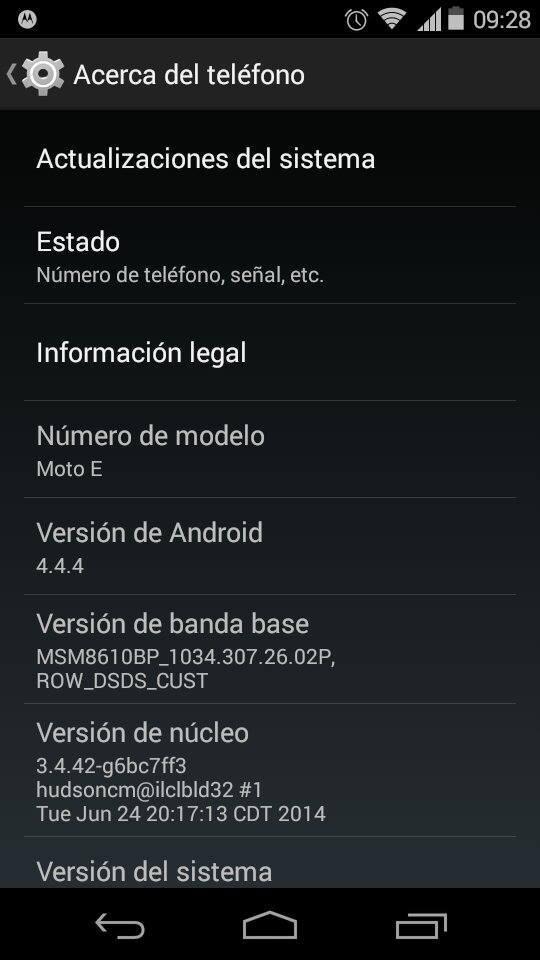 moto e android 4 4 4 Los usuarios del Moto E en Colombia comenzaron a recibir la actualización a Android 4.4.4