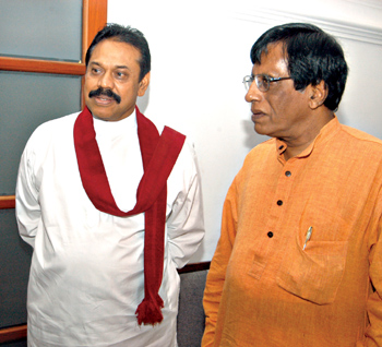 Rajapaksa and chief opinion pollster and close advisor Sunimal Fernando