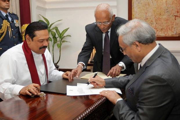 Rajapaksa and the de facto CJ