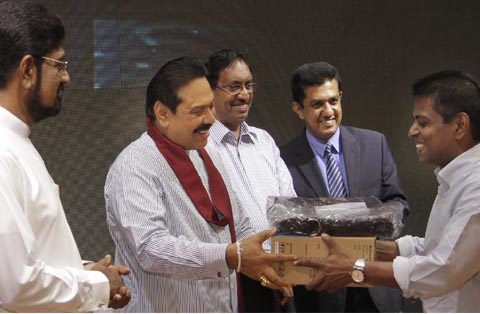 A free Laptop from President to Daily News Editor Rajpal Abeynayake