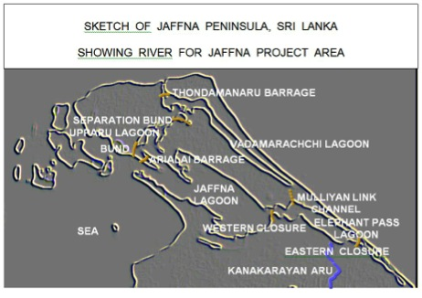 The project consists of five barrages, one bund and a link channel.