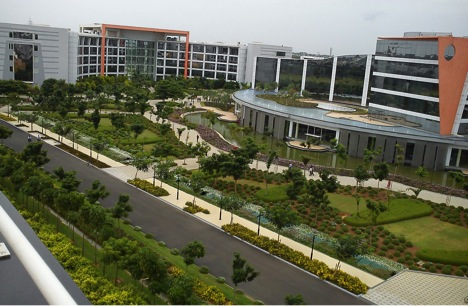 A part of the extensive Infosys Complex
