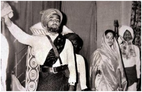 14 year old Narendra Modi is seen participating in a school play at B. N. High School, Vadnagar, Gujarat, playing the role of 19th century chieftain Jogidas Khuman who waged a principled armed struggle against the then rules of Bhavnagar, Gujarat.