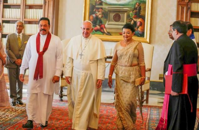 Mahinda Vatican Pope