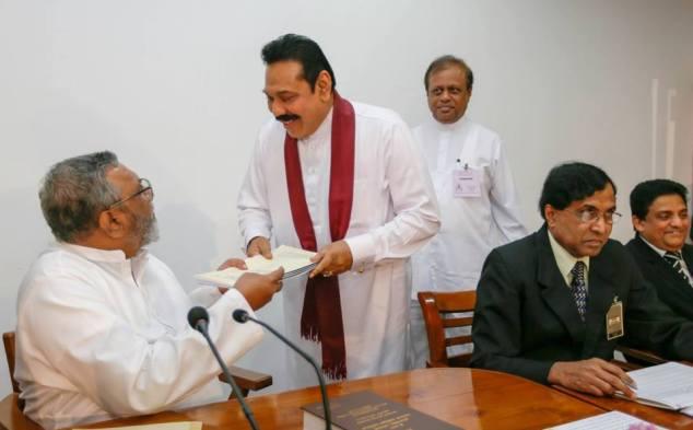 Mahinda Rajapaksa Nomination 2014 Pic President's media