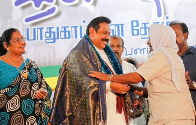 Mahinda in Kantale, Jan. 2, 2015