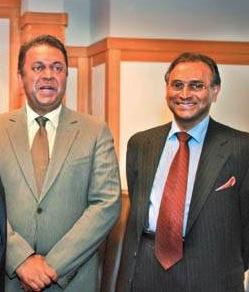 Minister of External Affairs Mangala Samaraweera and President's External Affairs advisor Jayantha Dhanapala