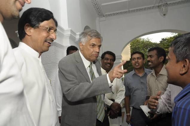 Ranil with media