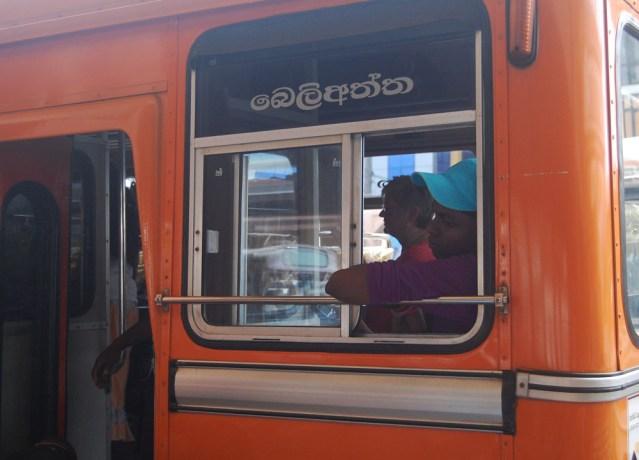 Bus board Sinhala
