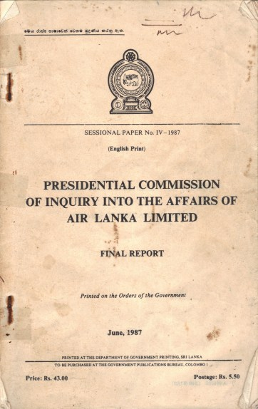 Cover of Presidential Commission 1986