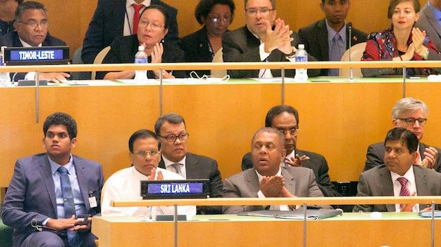 Maithripala - Daham sirisena @ UN 2015 Sep