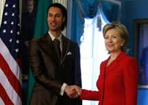 Gaddafi's son Mutassim Billah  and Hillary clinton  -Mutassim Billah Gaddafi was a Libyan Army officer, and the National Security Advisor of Libya from 2008 until 2011