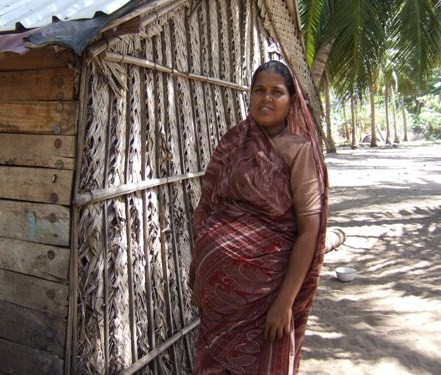 [ File Photo- At Nookkuraansolai welfare camp in Kandalkuda, Puttlam district, Picture courtesy Dushiynthini Kanagasabapathipillai]
