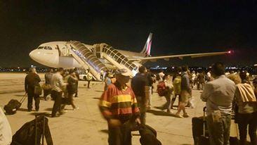 Sri Lankan Airlines flight bound for Colombo from Bangkok