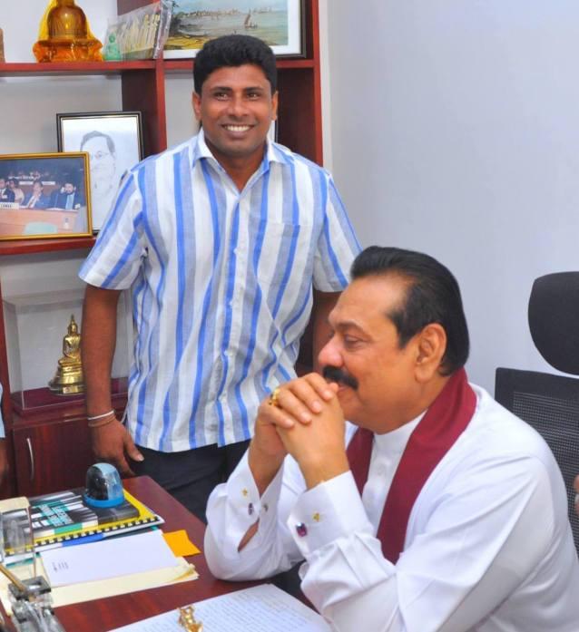 Kamal Indika and Mahinda Rajapaksa