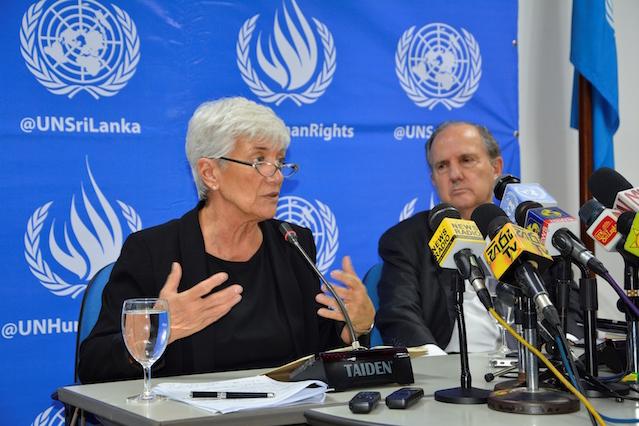 United Nations human rights experts Mónica Pinto and Juan E. Méndez