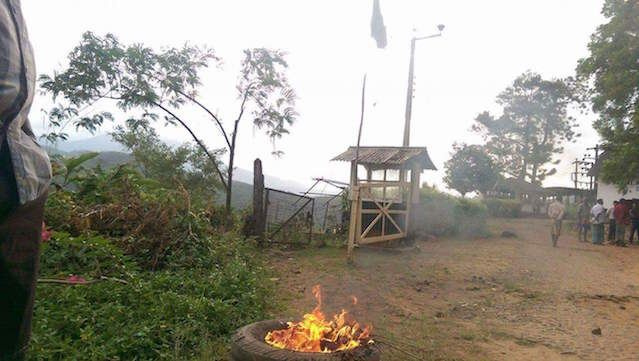 black flags have been put up Agalawatte Plantations