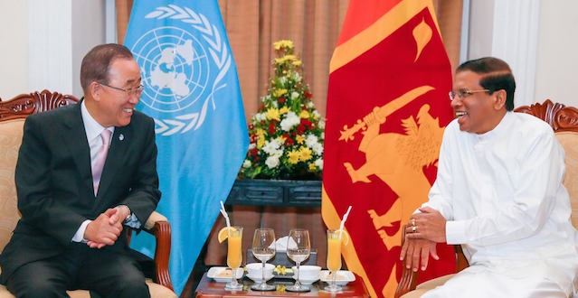 Ban Ki-moon and Maithripala Sirisena