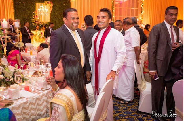 namal-rajapaksa-at-dudley-sirisenas-sons-wedding