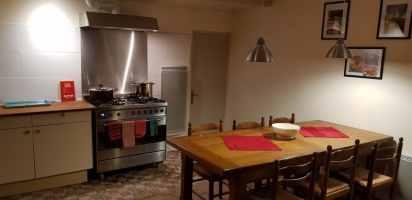 de keuken van het hoofdappartement