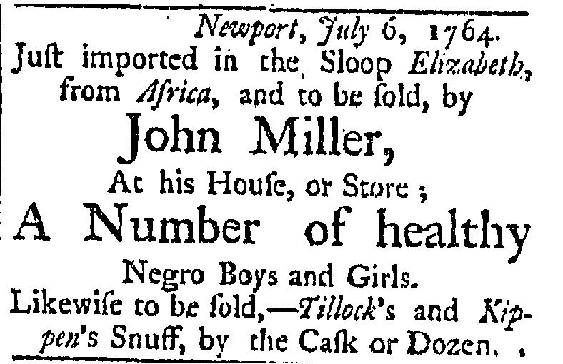 TO BE SOLD: African Slave Advertisements in Colonial